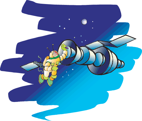 tether clipart astronaut
