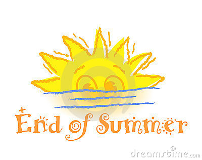 The end clipart summer.