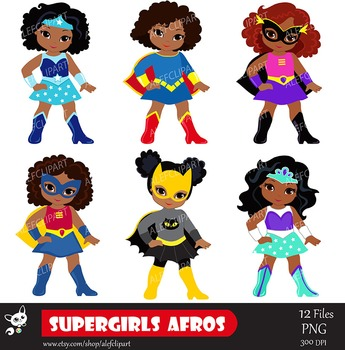 superhero clipart african american