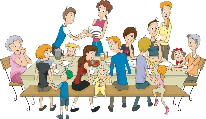 Aunt clipart joint family.