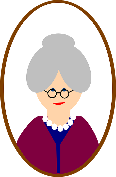 Aunt clipart kind lady.