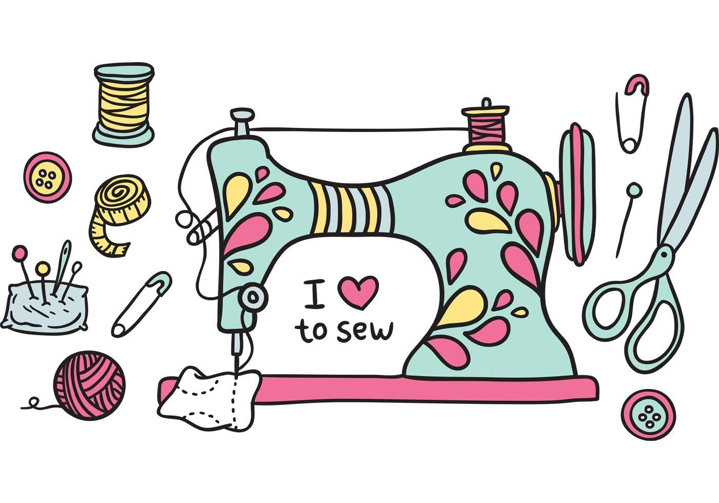 Aunt clipart sewing.