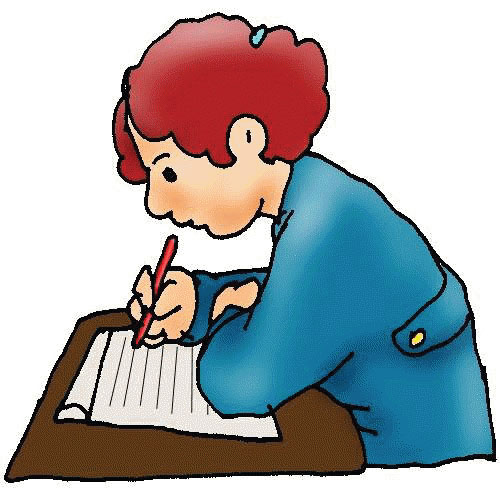 clipart writing student
