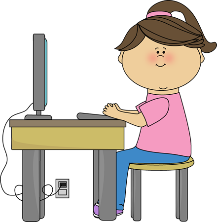 students clipart computer