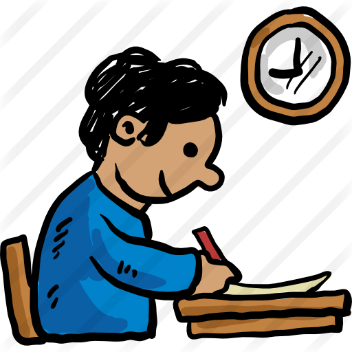 midterm clipart student studying