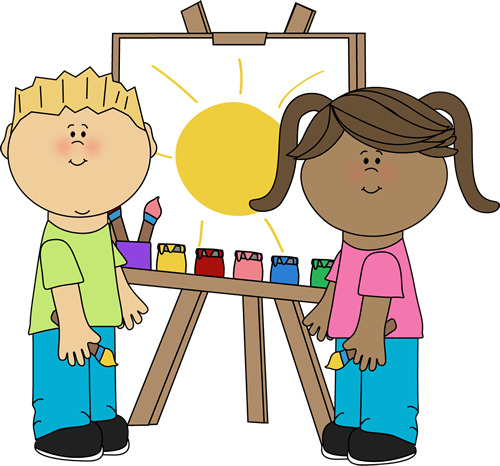 painting clipart cute