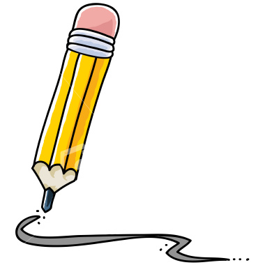 pencil clipart writing
