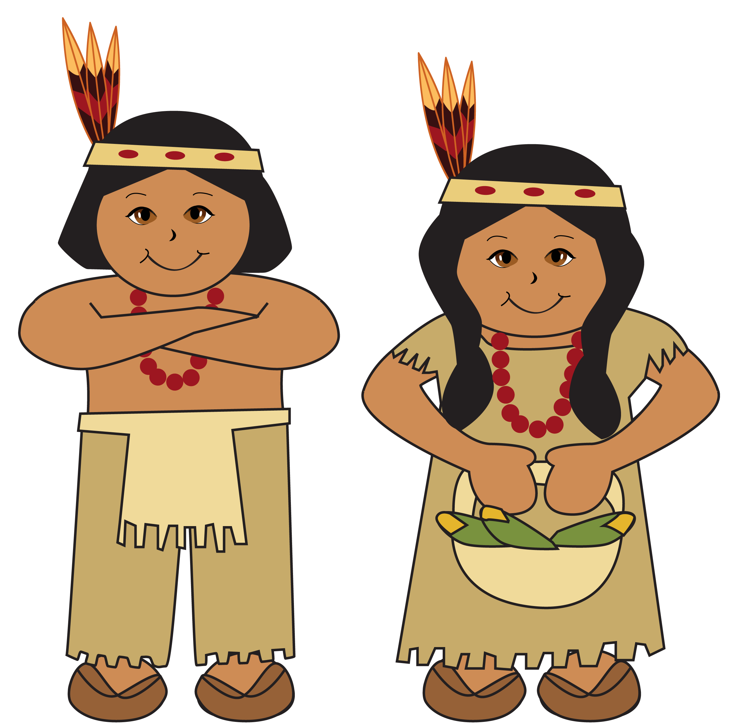 native american clipart thanksgiving