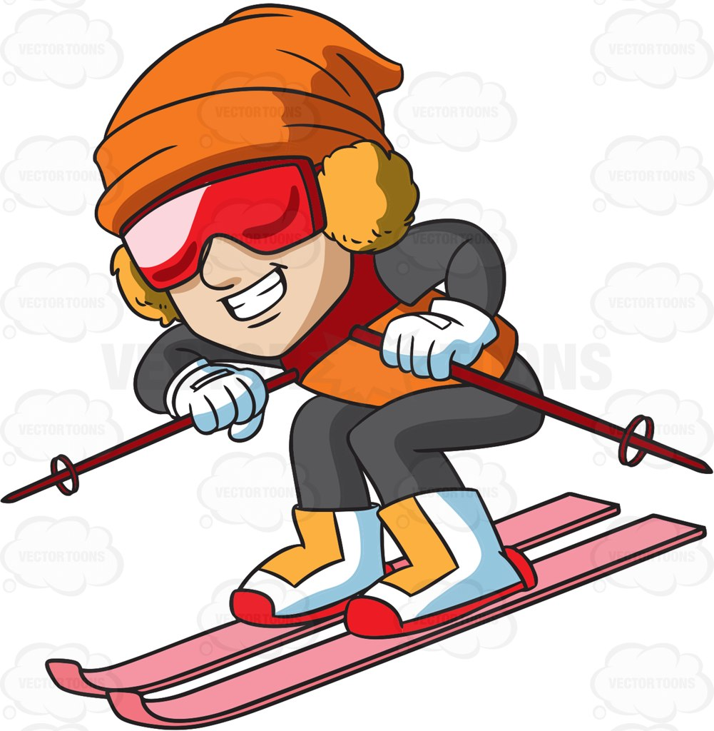 Ski clipart animated.