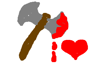 Axe clipart bloody.