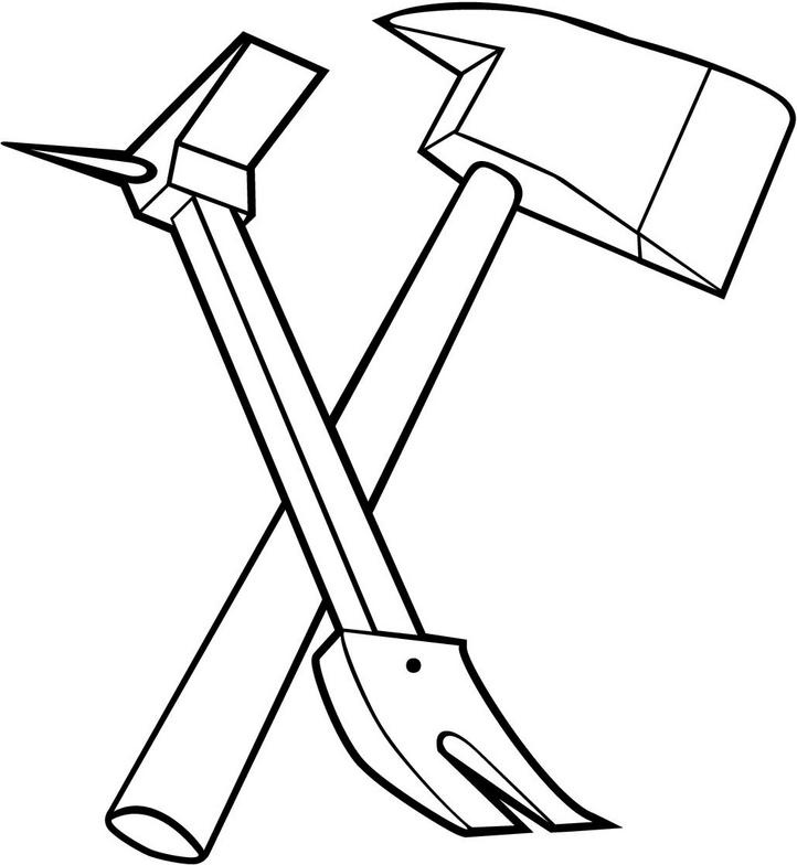 Axe clipart crossed fire.
