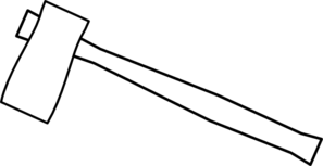 Axe clipart black and white.