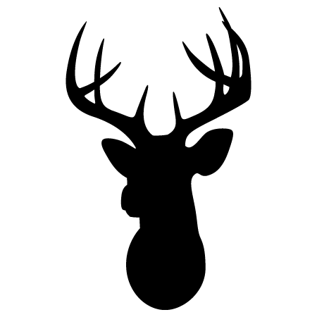 deer head clipart easy