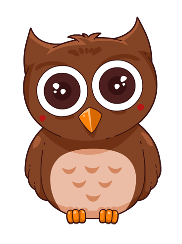 owl clipart brown
