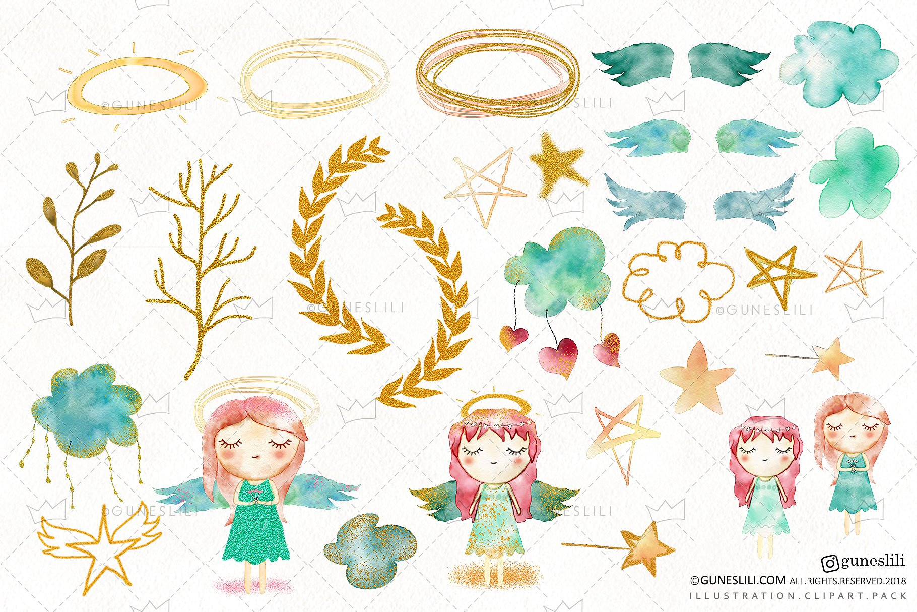 Baby clipart watercolor.