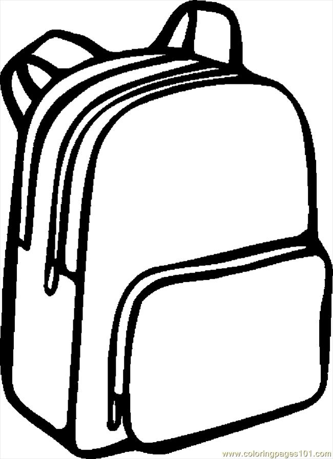 Backpack clipart white.