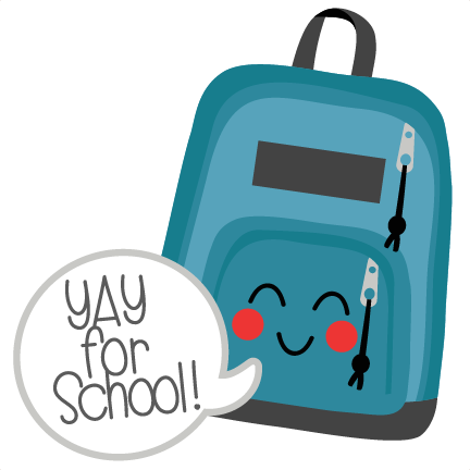 Backpack clipart cute.