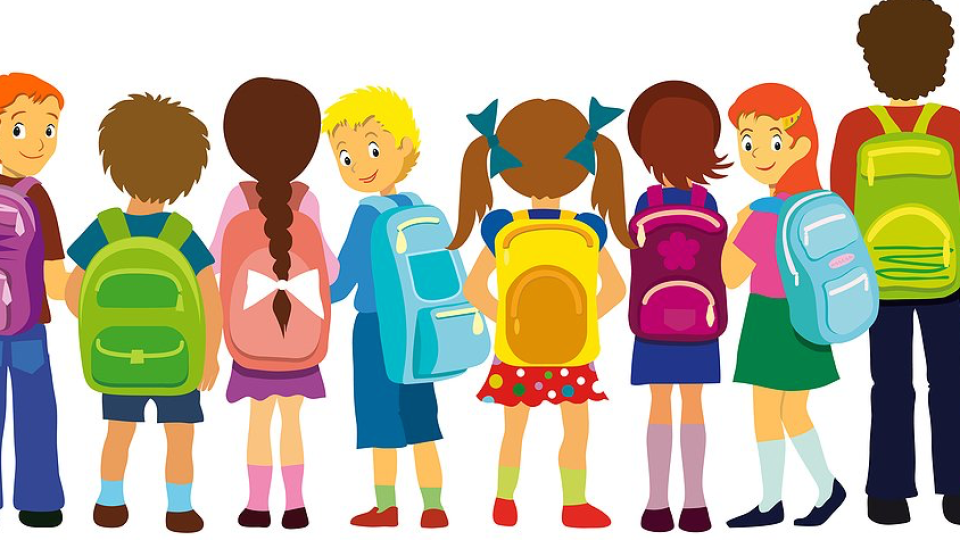 Backpack clipart kid.