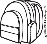 Backpack clipart outline.