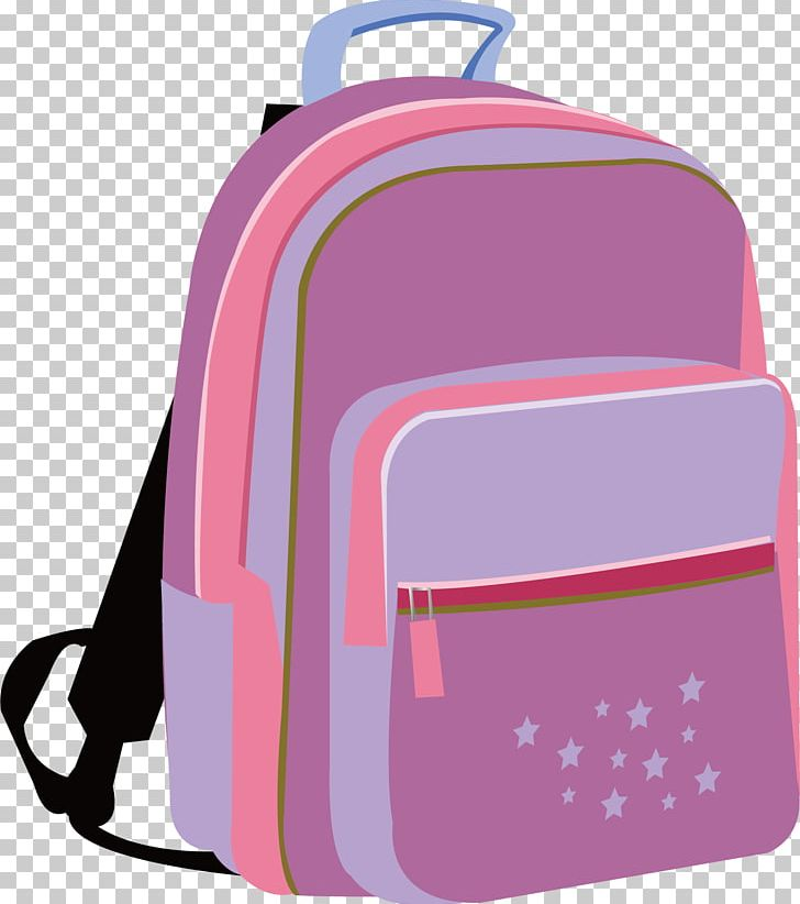 Backpack clipart pink.