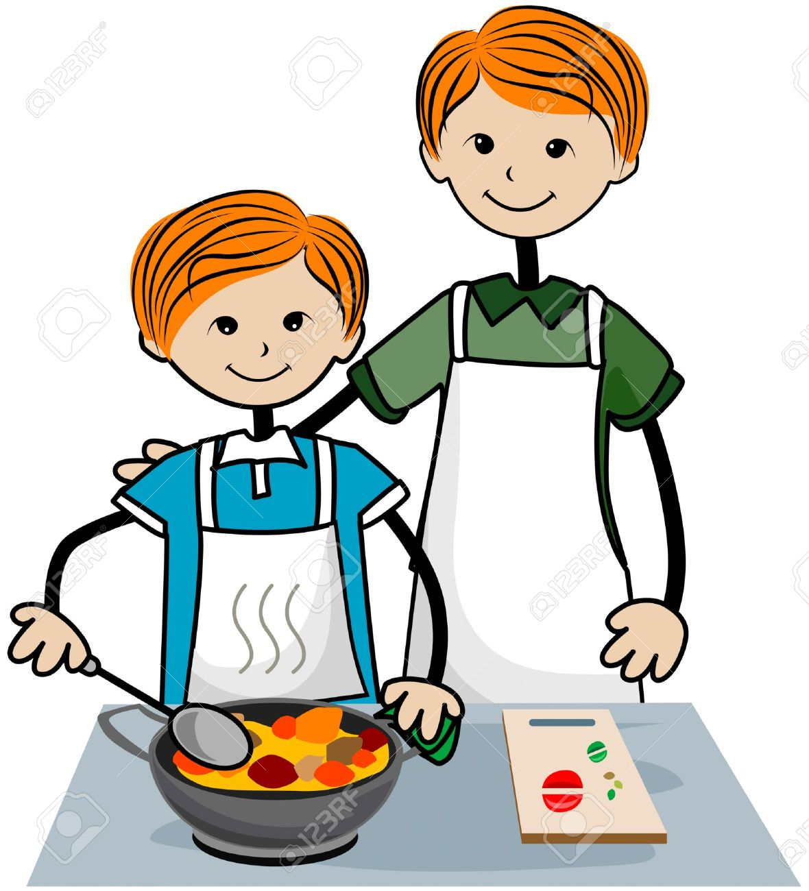 cooking clipart child