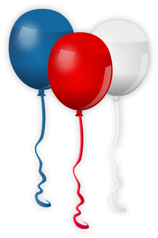 balloon clipart 4th july