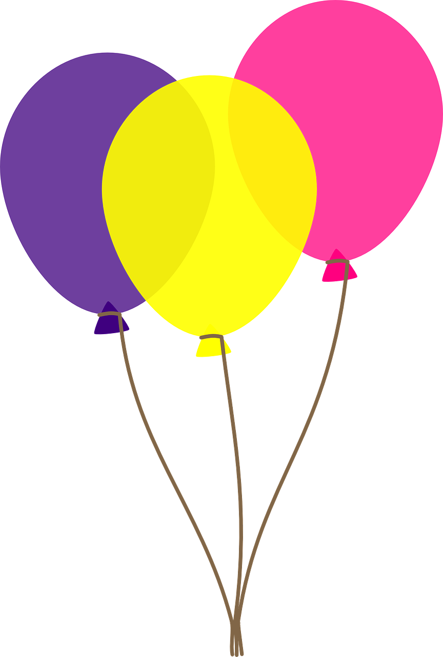 clipart balloons colorful