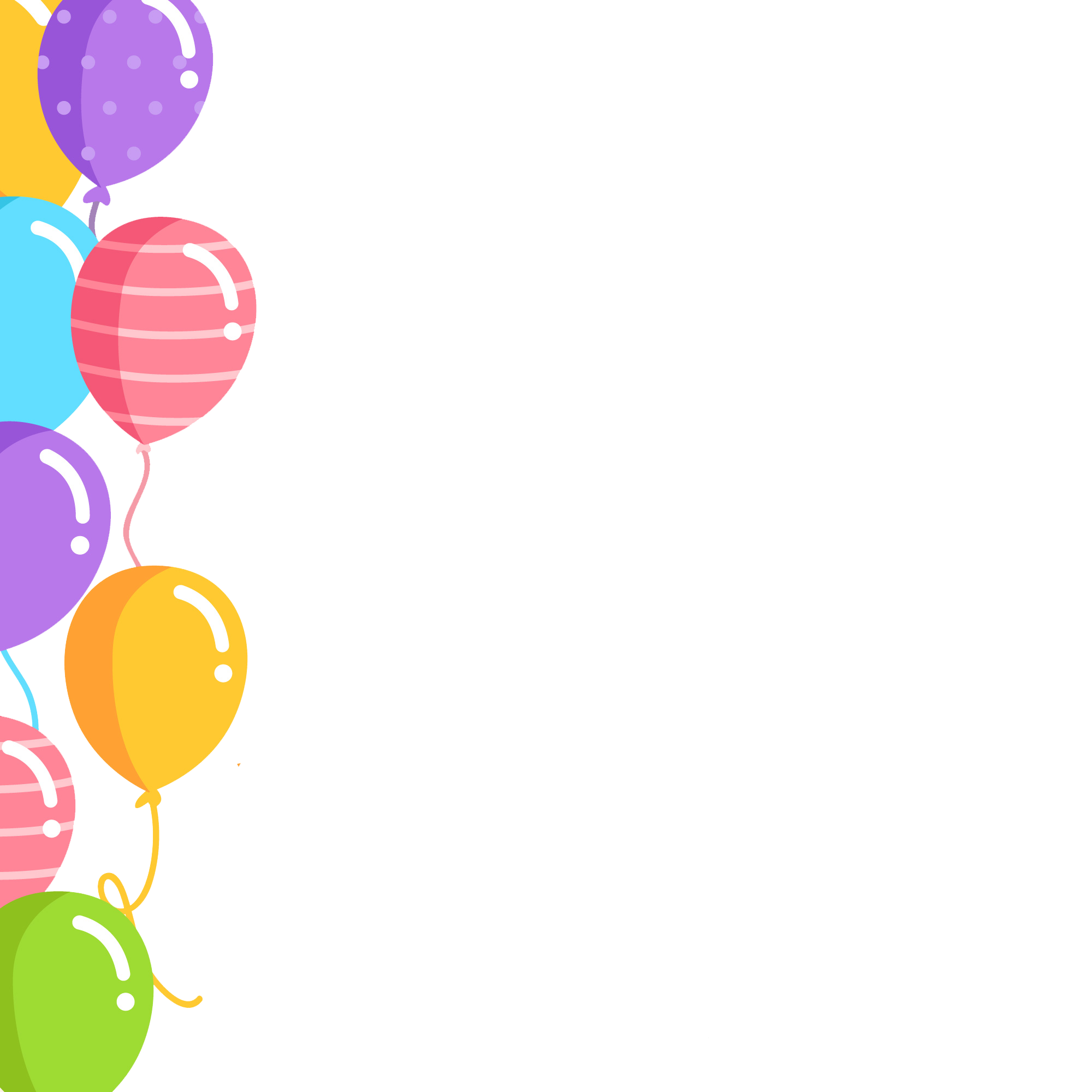 Balloon clipart borders.