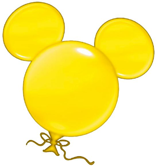 mickey mouse head clipart yellow