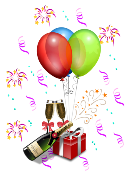 balloon clipart new years eve