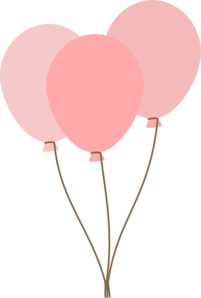 balloon clipart peach