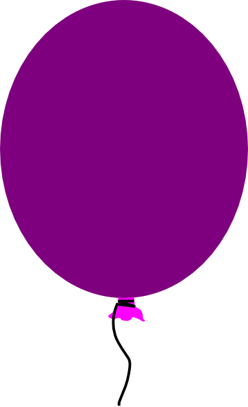Balloon clipart purple.
