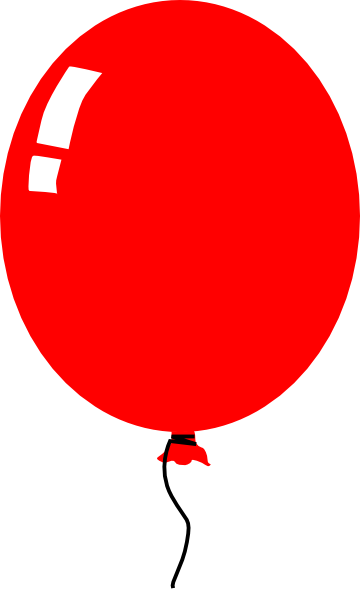 Balloon clipart red.
