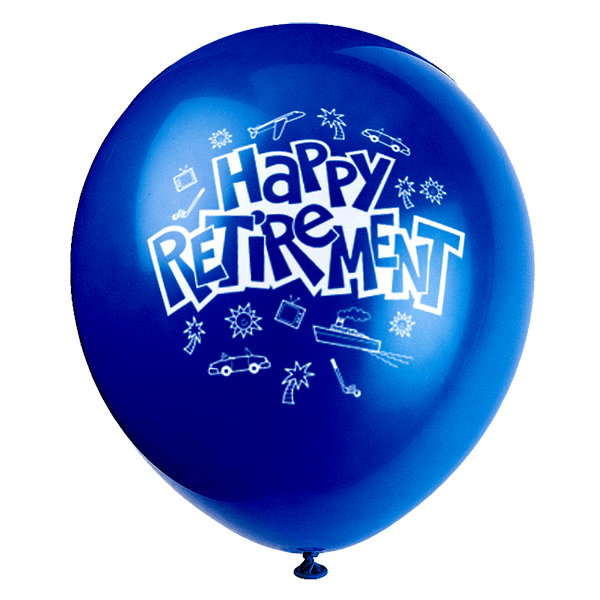 Balloon clipart retirement.
