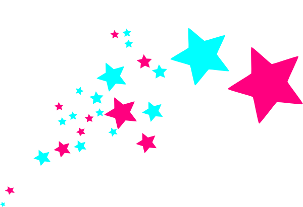 Pink clipart shooting star.