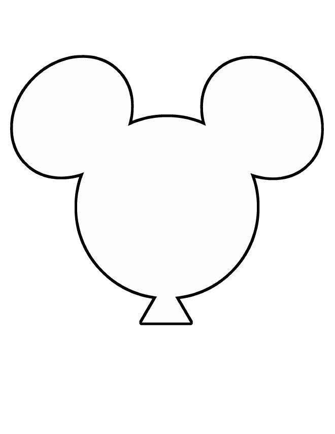 Balloon clipart template.