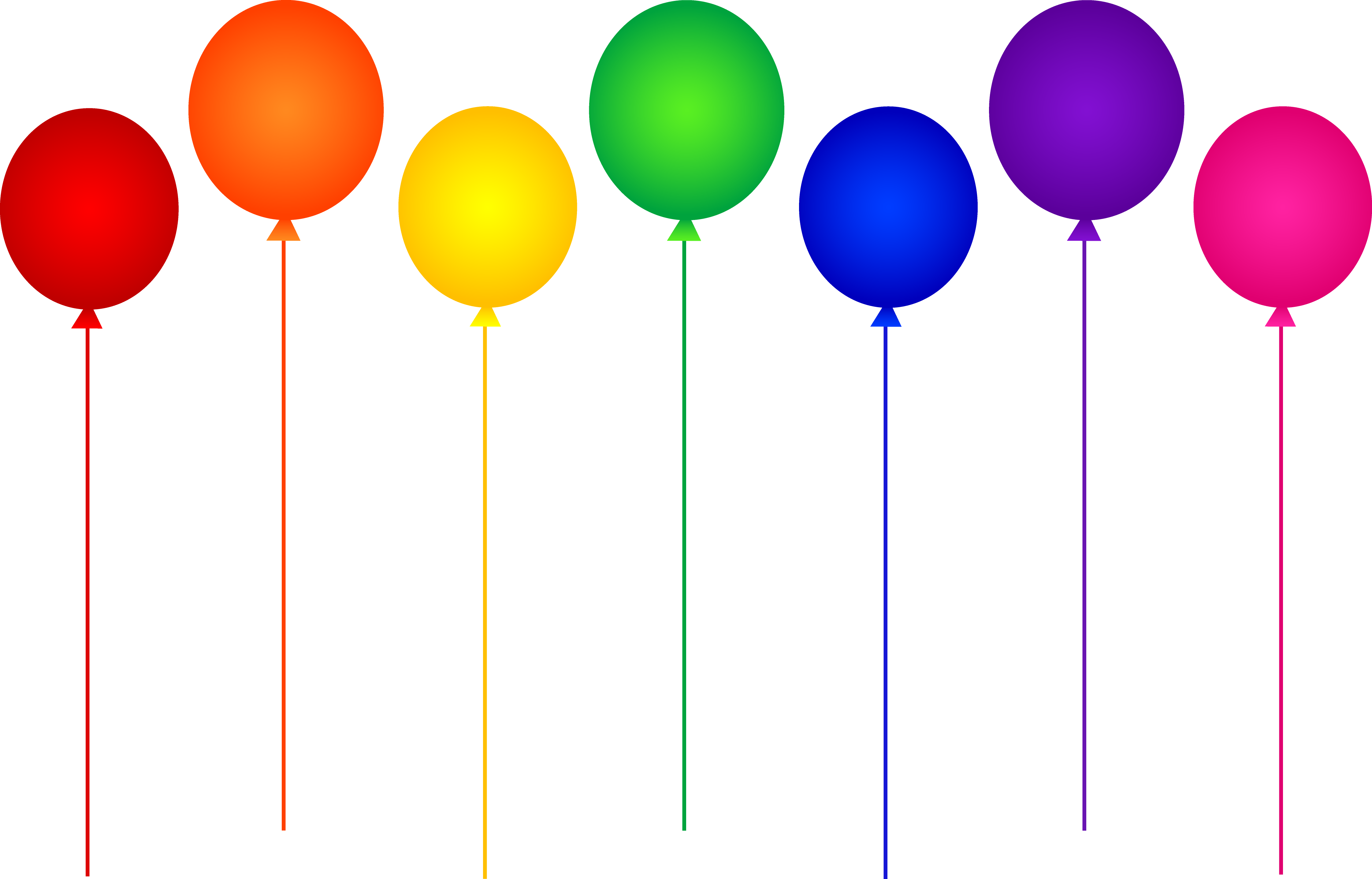 Balloons clipart colorful.