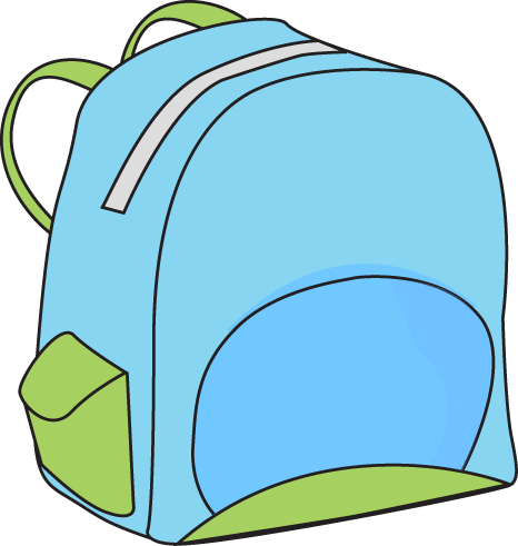 backpack clipart school themed