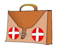 bandaid clipart bag