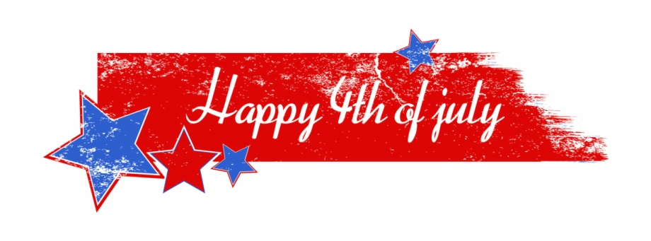 Fourth of july clipart banner.