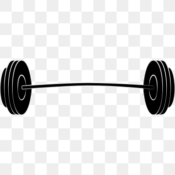 Barbell clipart weightlifting bar.