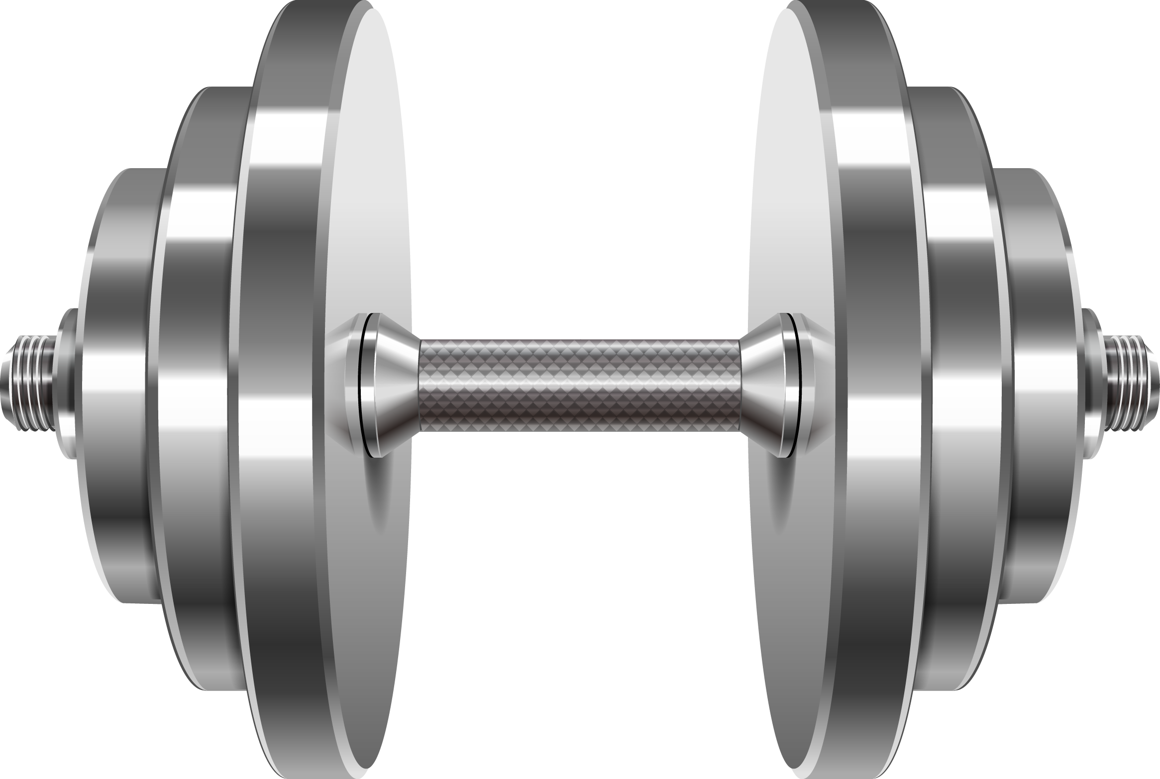 Black clipart barbell.