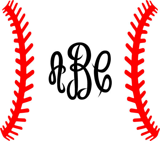 baseball laces clipart svg