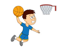 clipart basketball playing