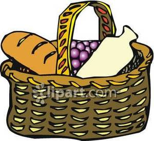 Basket clipart lunch.