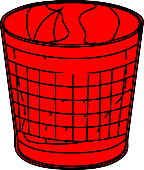 trash can clipart red