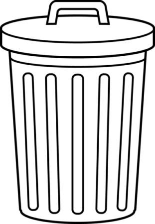 trash can clipart color