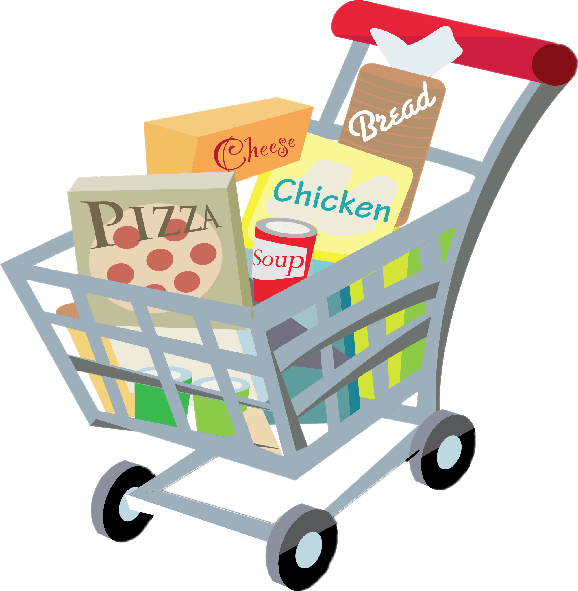 shopping carts clipart
