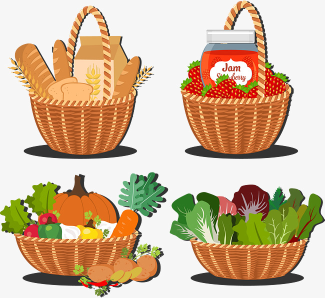 Basket clipart wheat.