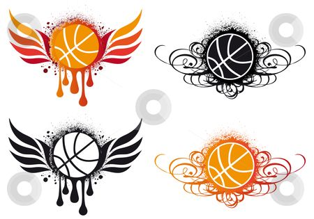 clipart basketball abstract